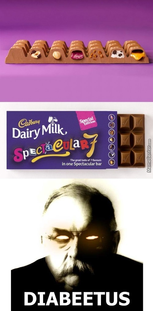 Cadbury Make Chocolate With 7 Flavors! 7 Flavors!!!!
