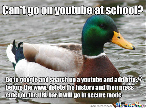 Can't Go On Youtube At School?