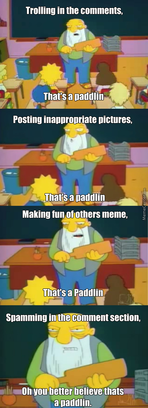 Can't Think Of A Funny Title, That's A Paddlin.