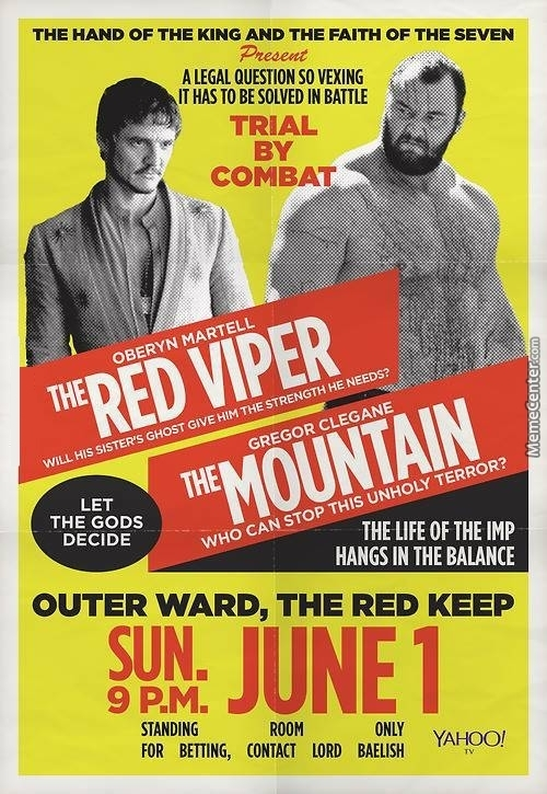 Red viper vs the mountain poster