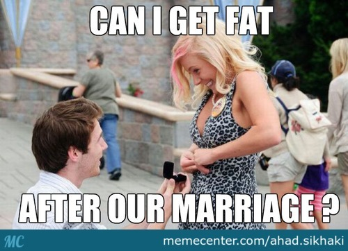 Can I Get Fat If I Say Yes ?