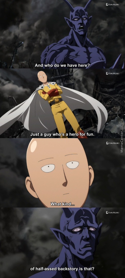 Caped Baldy Is The Hero We Deserve. (Anime: Onepunch-Man )