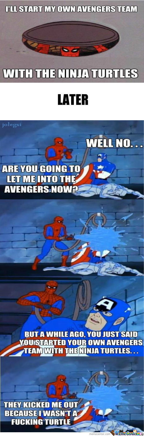 Captain America Y U No Let Spider-Man Join The Avengers