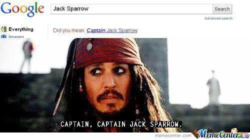 Captain, Captain Jack Sparrow