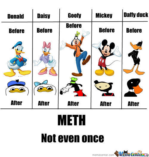 Cartoons Before And After Meth!