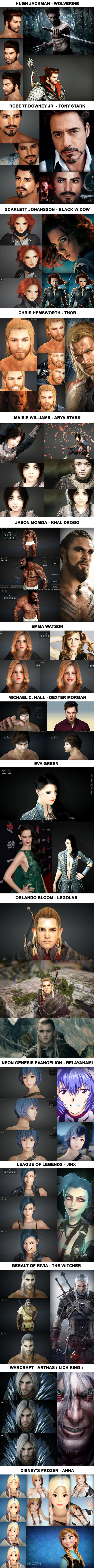 """Celebrities In """"black Desert Online"""", The Most Realistic Character Creation In A Mmorpg (Part 2)"""