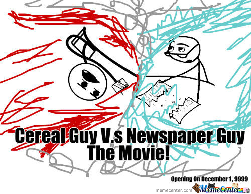 Cereal Guy Vs Newspaper Guy The Movie!