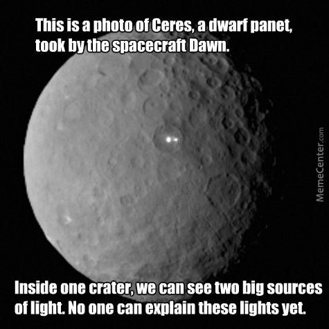 Ceres Has Lights. Surprised Me.
