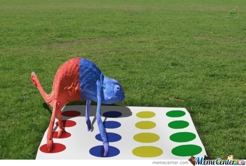 Chameleon Problems: Playing Twister