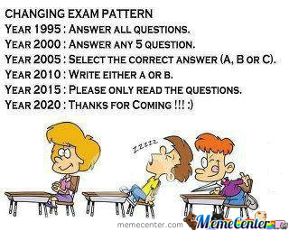 Changing Exam Pattern...