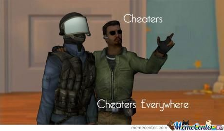Cheaters....