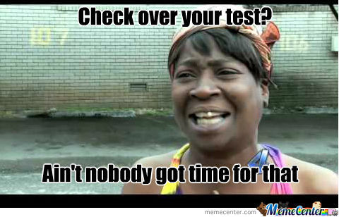 Checking Over Your Test