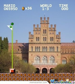 Chernivtsi University Looks Like Big Castle In Mario