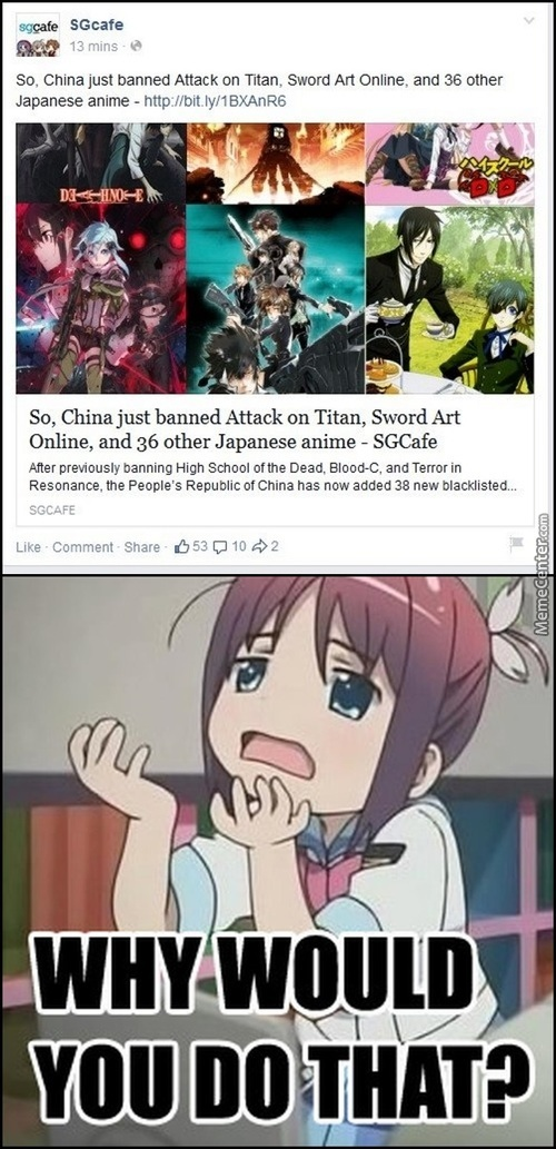 """China Is Banning """"violent"""" And """"vulgar"""" Anime"""
