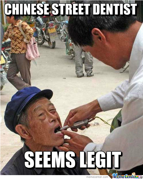 Chinese Street Dentist