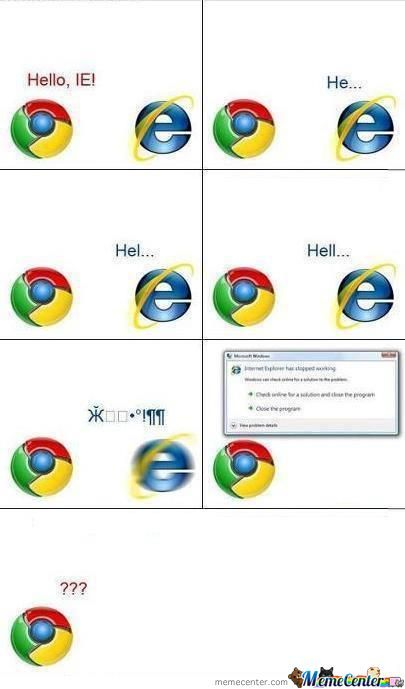 Chrome Vs Ie ....true Story :d