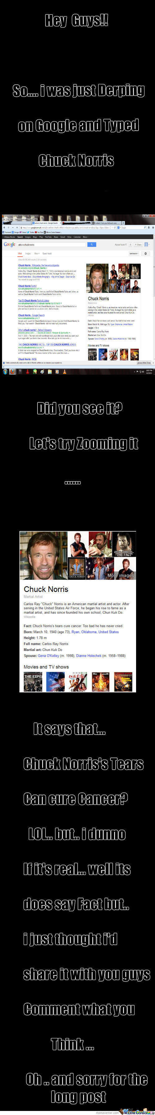 Chuck Norris's Tears Cure Cancer?