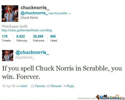Chuck Norris In Scrable