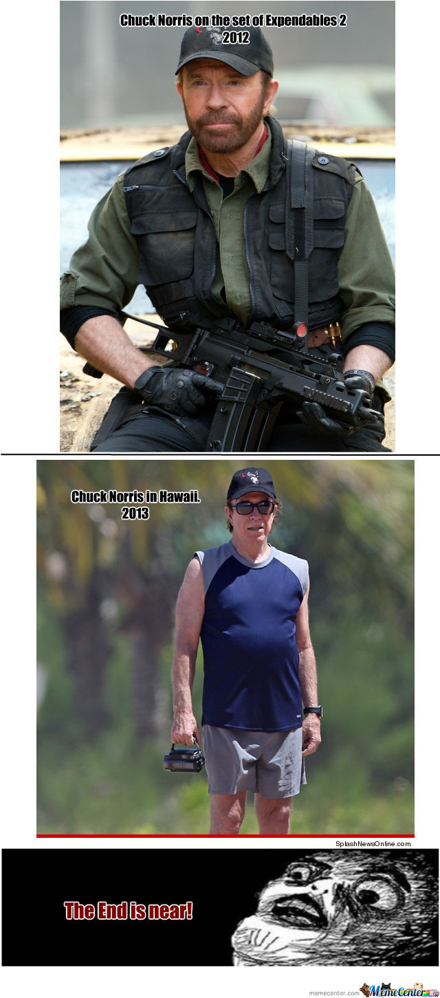 Chuck Norris Is Old! (My Heart Broke When I Saw This)
