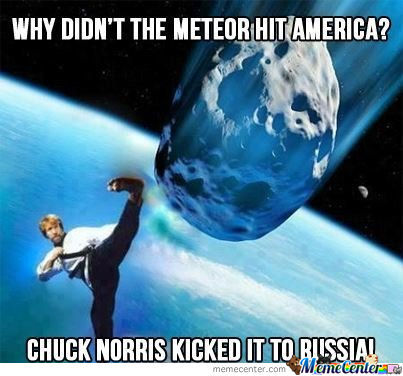 Chuck Norris Kicked It To Russia!