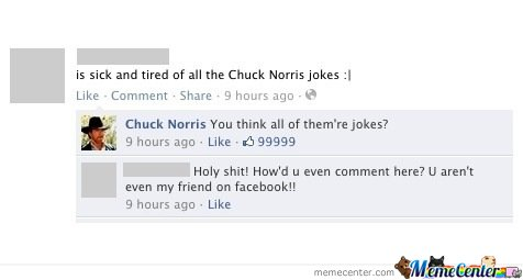 Chuck Norris On Facebook