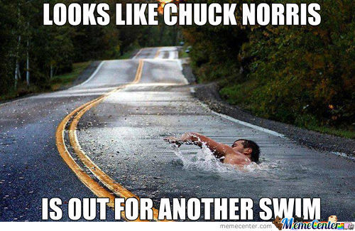 Chuck Norris Out For A Swim
