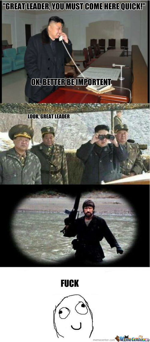 Chuck Norris Takes Care Of North Korea