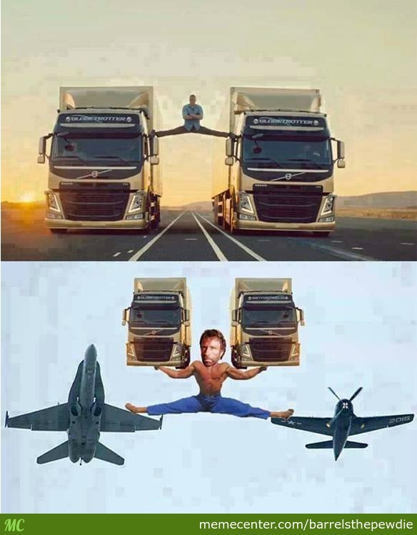 Chuck Norris The Epic Split