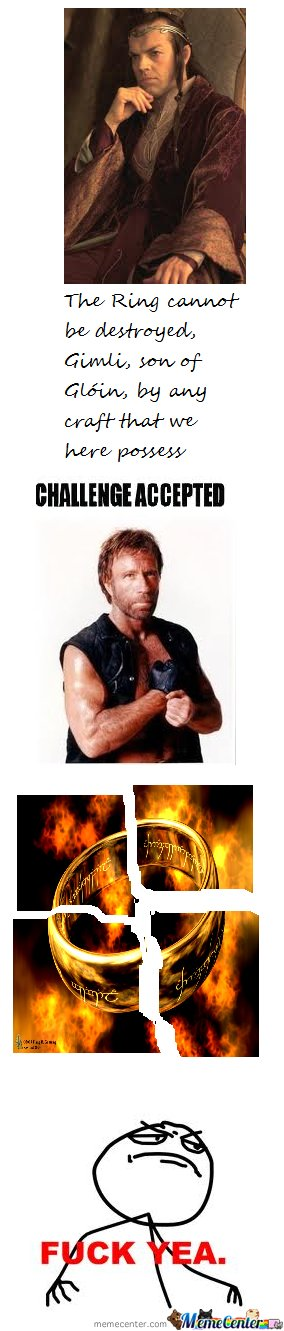 Chuck Norris Vs Sauron's Ring