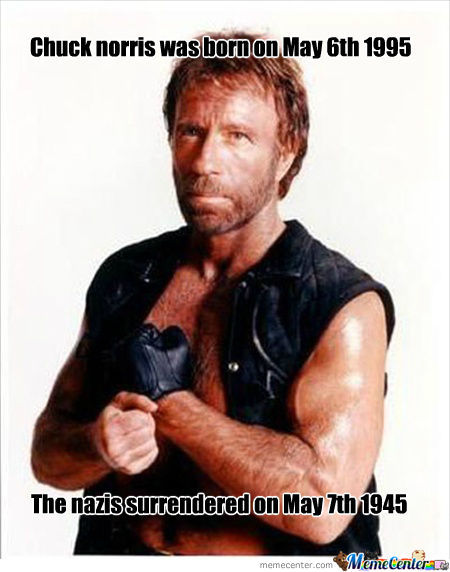 Chuck Norris, Winning Wars At One Day Old