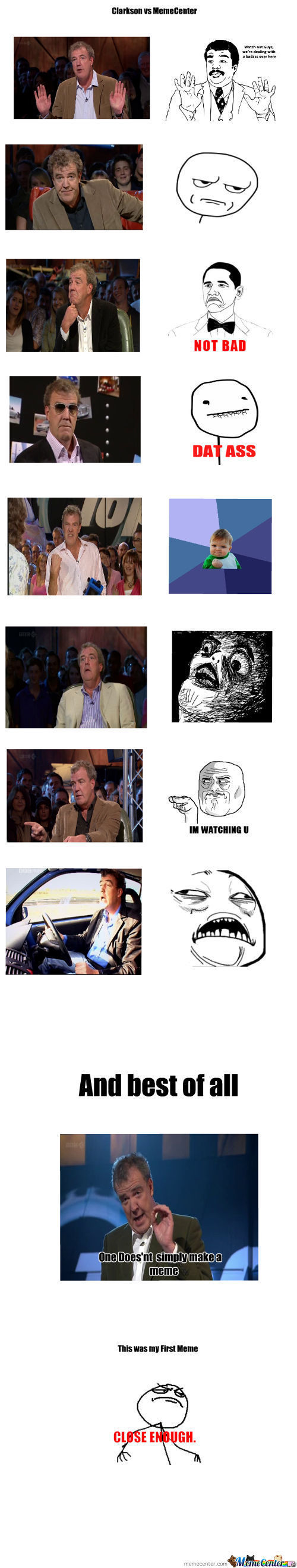 Clarkson Vs Memecenter