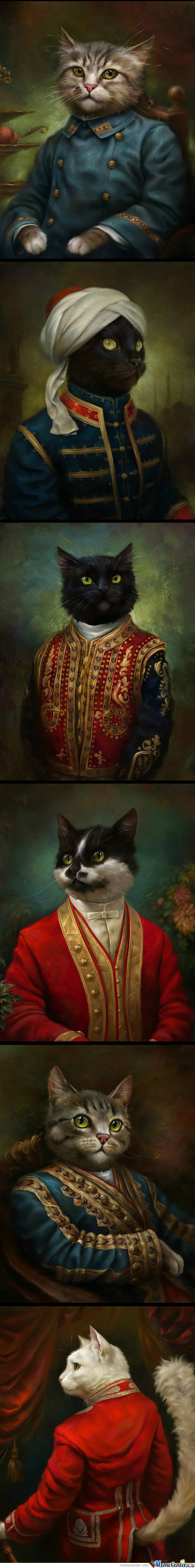 Classical Cat Oil Paintings