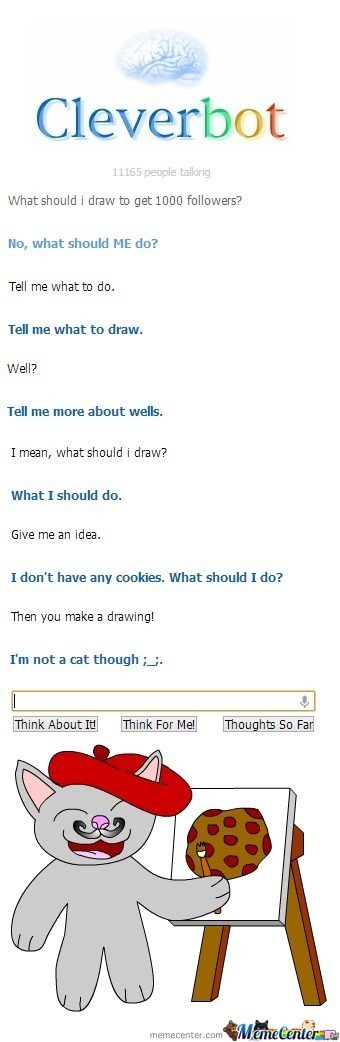 Cleverbot Art Ask... Or Something Like That