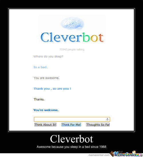 Cleverbot Being Clever... [Redone]