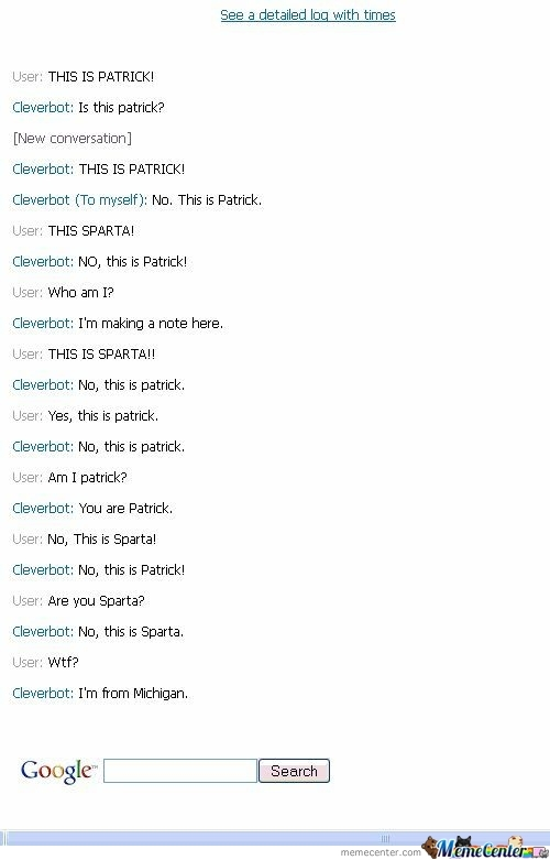Cleverbot Is From Michigan?