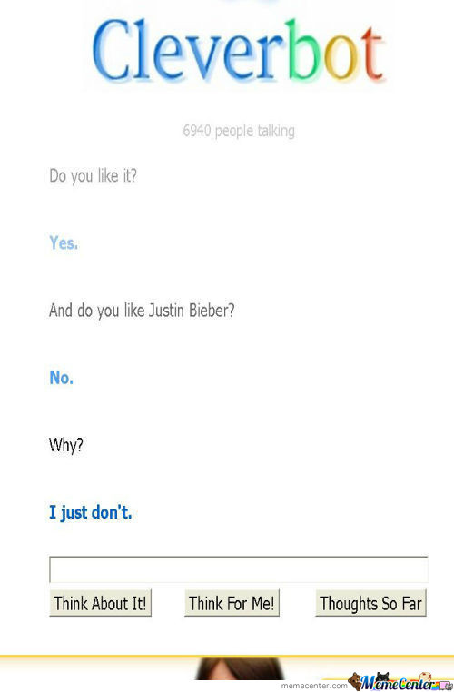 Cleverbot Omg He Is Rly Clever!!