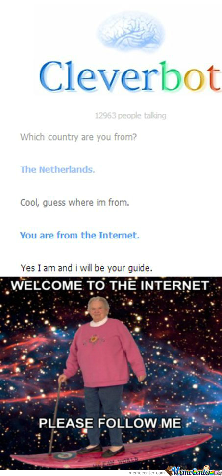 Cleverbot-Welcome To The Internet