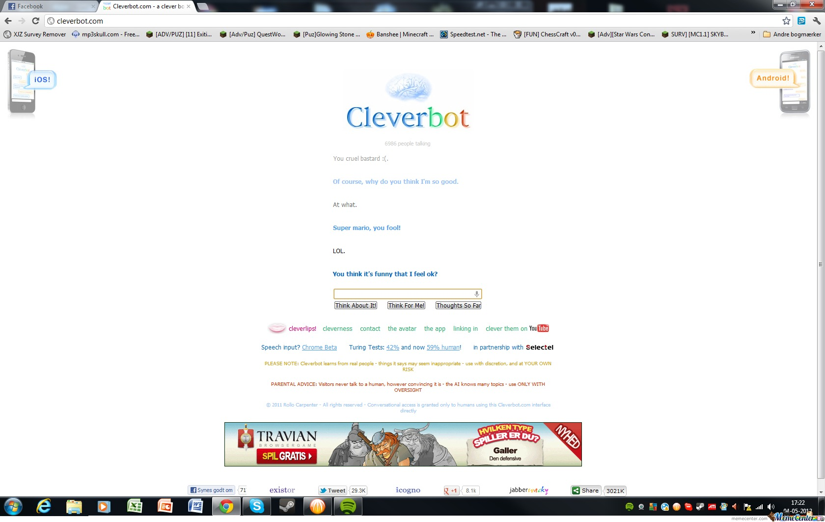 Cleverbot You'r Soo Good At Super Mario!