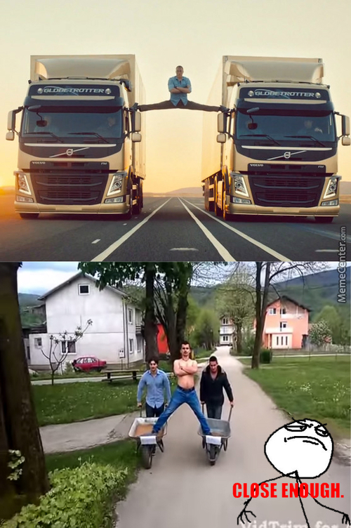 Close Enough Van Damme Commercial