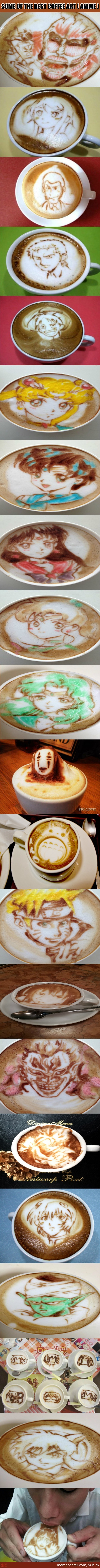 Coffee Art Part 1 ( Anime )