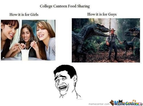 College Canteen Food Sharing!