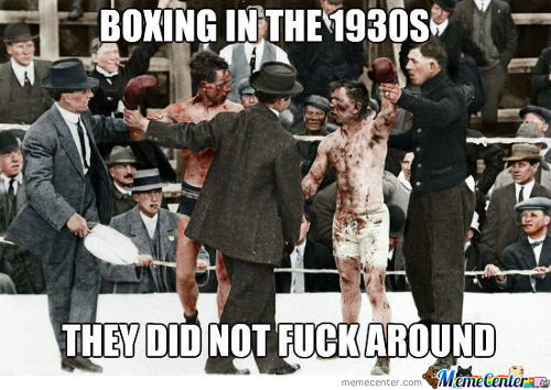 Coloured Picture Of Boxers In The 1930S