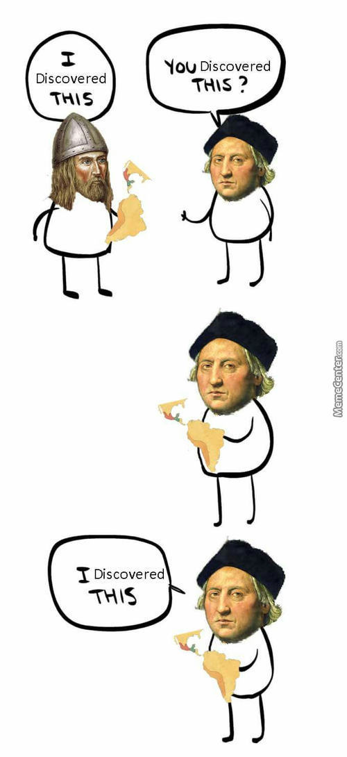 Columbus Was Sitting On The Throne Of Lies.