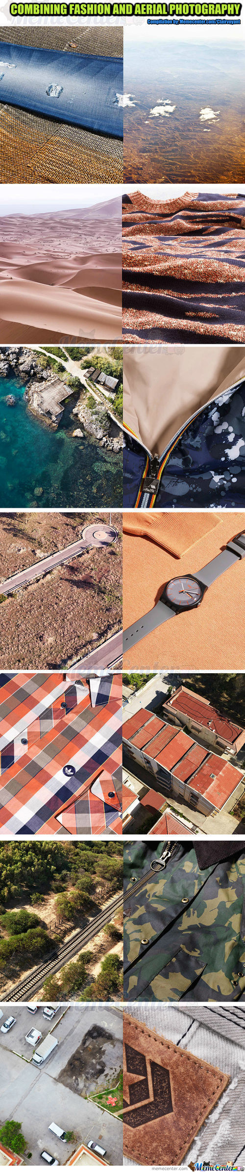 Combining Fashion And Aerial Photography