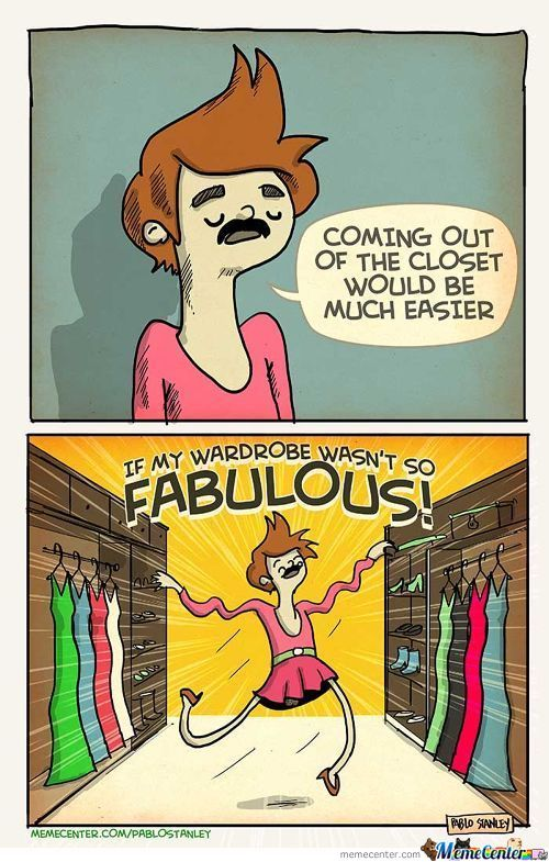 Coming Out Of The Closet...