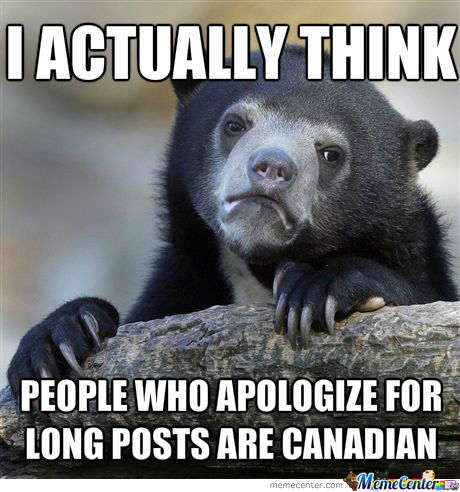 Confession Bear Thinks That Way