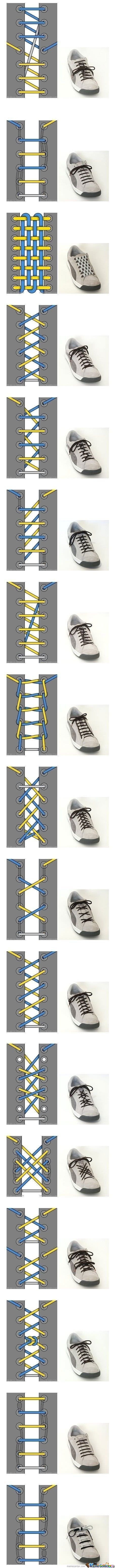 Cool Ways To Tie Your Shoes