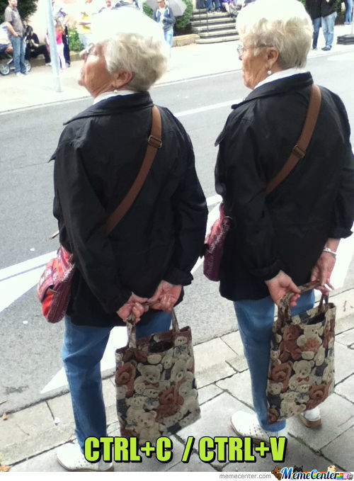 Copy Paste Level: Grandma.