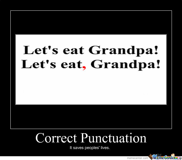 For punctuation, is this correct?