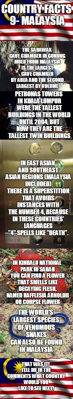 Country Facts #9- Malaysia